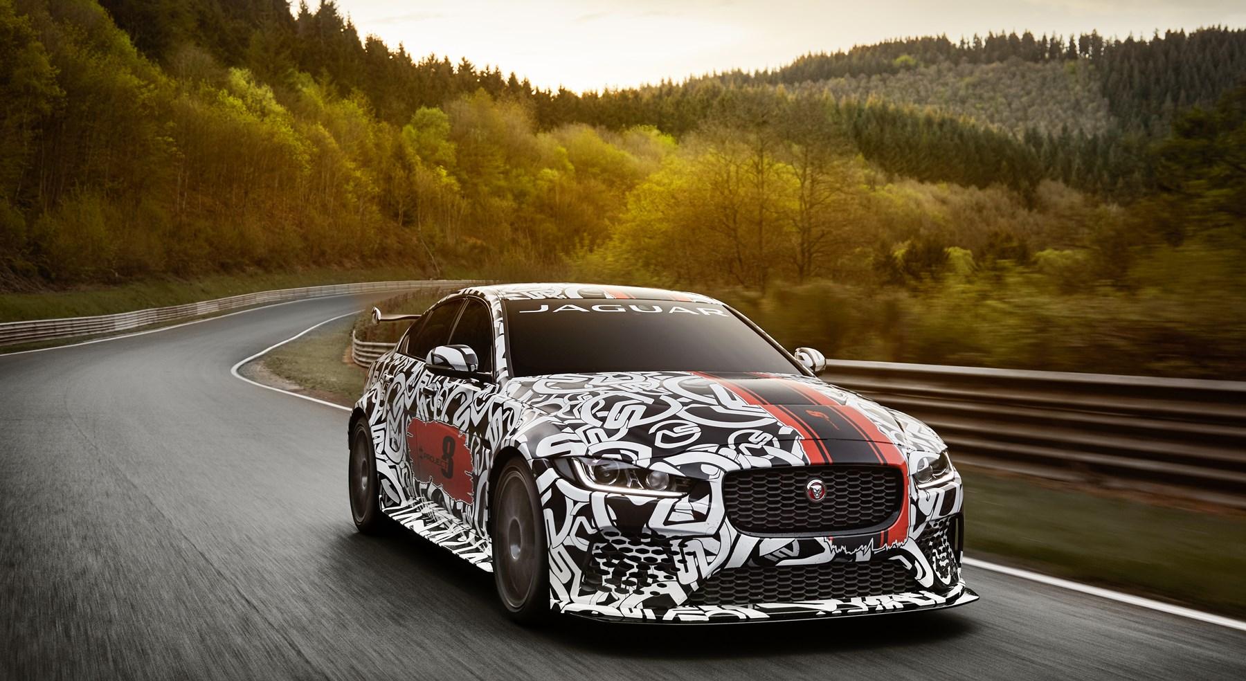 Jaguar XE SV Project 8 prototype testing Nurburgring World Copyright: Patrick Gosling / Beadyeye Ref:  XE_SV_Project8_NBR-1053.CR2