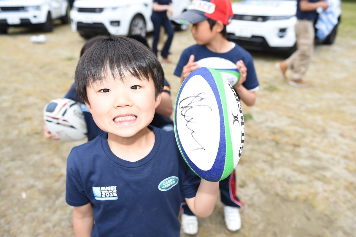 xxx during the Rugby World Cup Trophy Tour in partnership with Land Rover and DHL on May 22, 2014 in Tokyo, Japan.