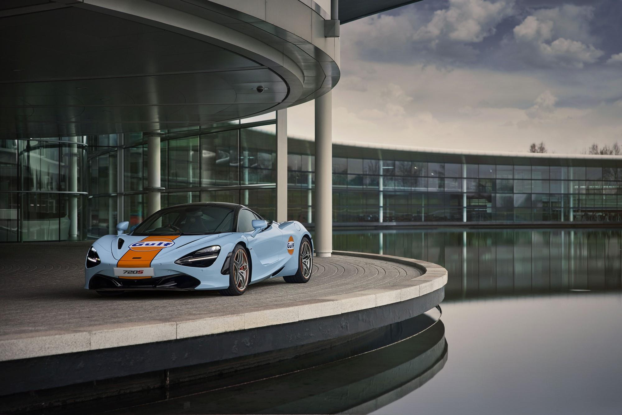 Gulf McLaren 720S photographed at McLaren Technology Centre- Woking UK - March 2021 Ref: Gulf_McLaren_720S-001.TIF